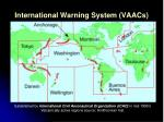international warning system vaacs