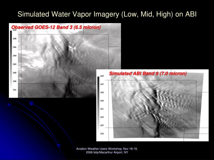 Simulated Water Vapor Imagery (Low, Mid, High) on ABI