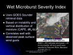 wet microburst severity index