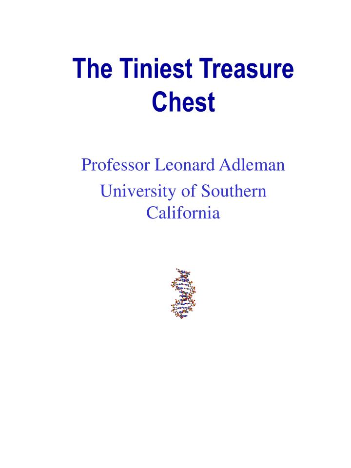 professor leonard adleman university of southern california n.