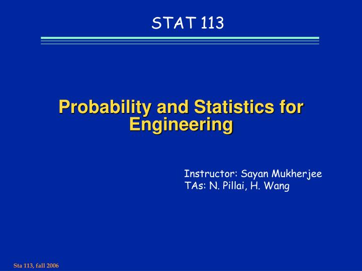 probability and statistics for engineering n.