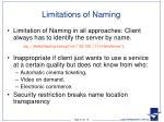 limitations of naming