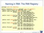 naming in rmi the rmi registry1
