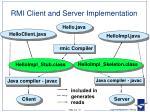 rmi client and server implementation