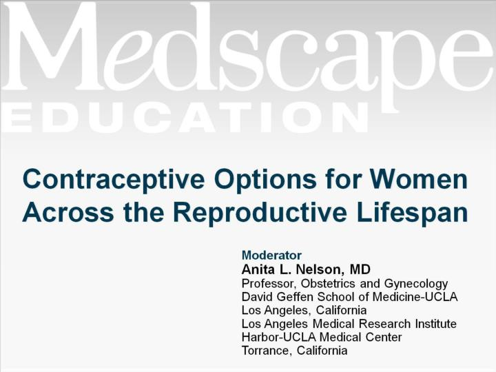 contraceptive options for women across the reproductive lifespan n.