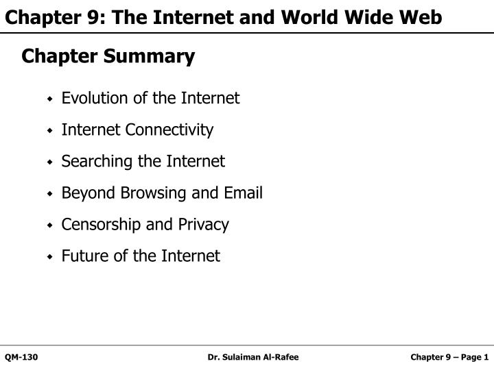 chapter 9 the internet and world wide web n.