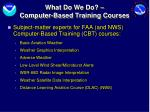 what do we do computer based training courses