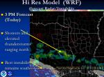 hi res model wrf forecast radar instability