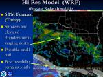 hi res model wrf forecast radar instability1