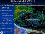 hi res model wrf forecast radar instability2