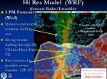 hi res model wrf forecast radar instability5