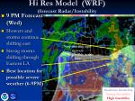 hi res model wrf forecast radar instability7