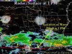 radar surface @ 1 pm