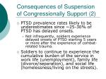 consequences of suspension of congressionally support 2
