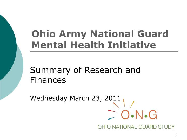 ohio army national guard mental health initiative n.