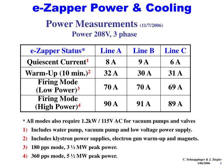 e zapper power cooling n.