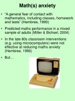 math s anxiety