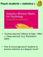 psych students statistics