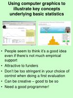 using computer graphics to illustrate key concepts underlying basic statistics