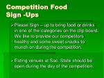 competition food sign ups