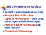 2012 microscope review