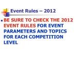 event rules 20121