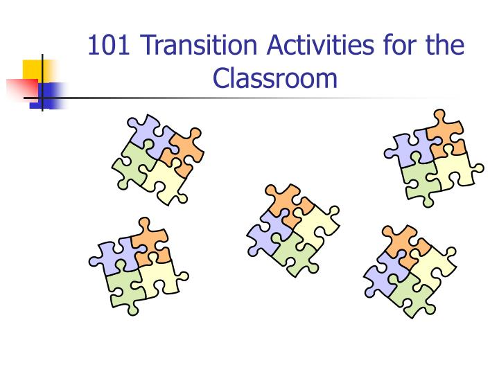 101 transition activities for the classroom n.