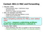 context 802 11 mac and forwarding