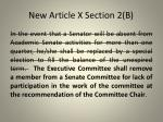 new article x section 2 b