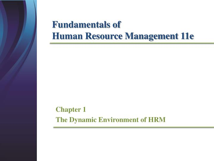 chapter 1 the dynamic environment of hrm n.