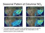 seasonal pattern of columnar no 2