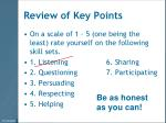 review of key points