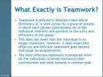 what exactly is teamwork