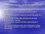 reimbursements replenishment
