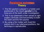 paralleling technique theory