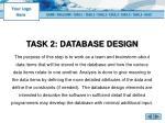 task 2 database design