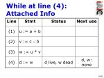 while at line 4 attached info