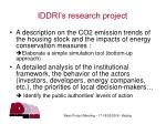 iddri s research project