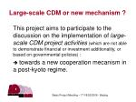 large scale cdm or new mechanism