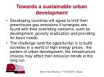 towards a sustainable urban development
