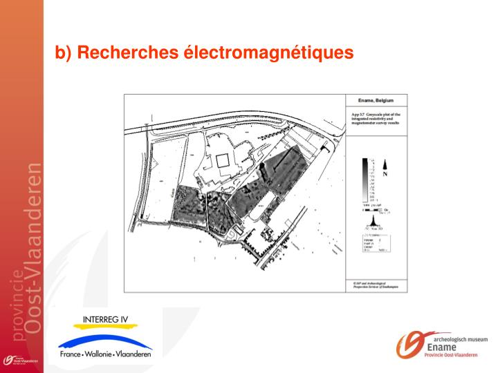b) Recherches électromagnétiques