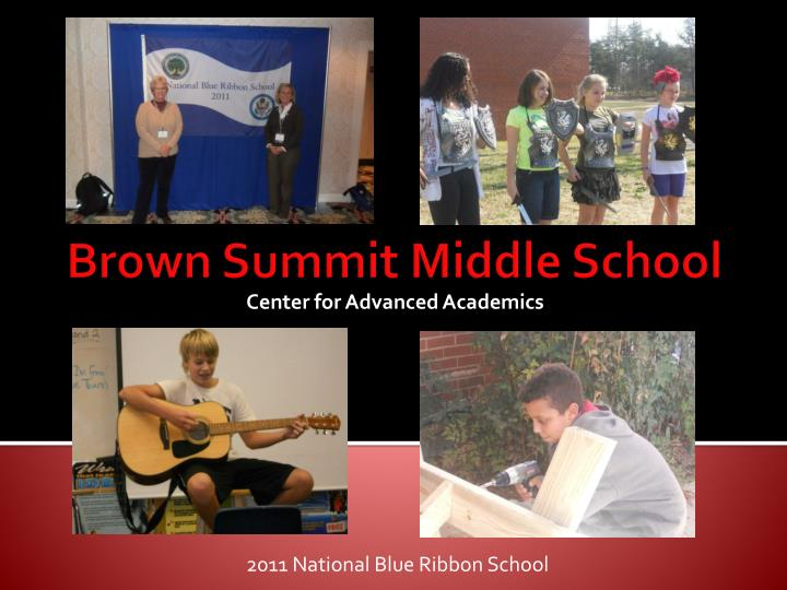 2011 national blue ribbon school n.
