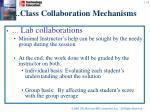 class collaboration mechanisms1