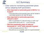 ilc summary