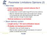 parameter limitations opinions 2