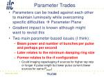 parameter trades