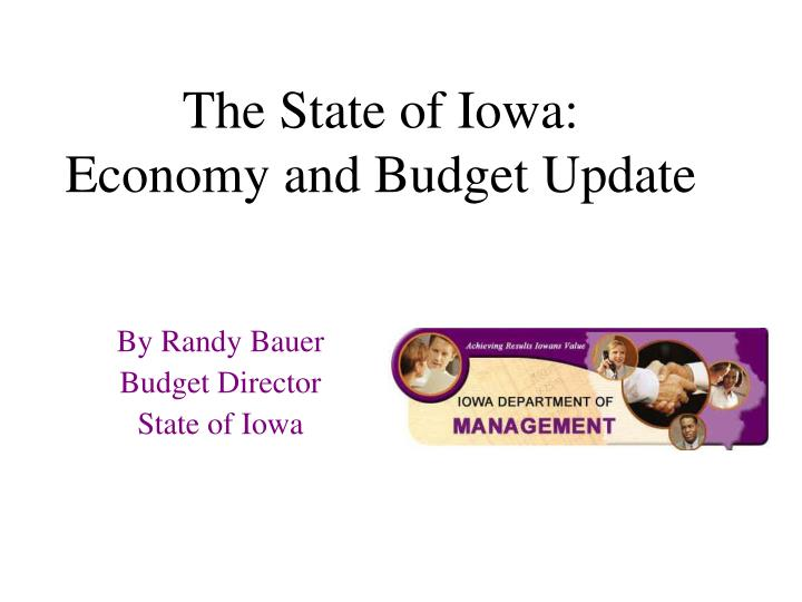 the state of iowa economy and budget update n.
