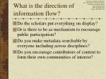 what is the direction of information flow