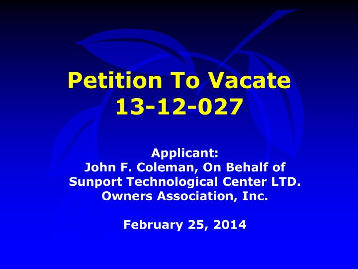 petition to vacate 13 12 027 n.