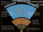 w z jets reconstruction in atlas
